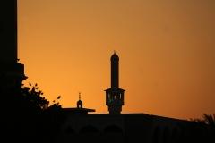 Sunset minaret