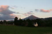 Moon over Schiehallion