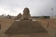 Sphinx sand sculpture