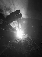 Welding flame (B&W)