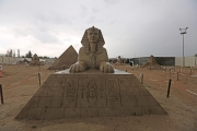 Sphinx sand sculpture