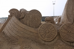 Viking sand sculpture