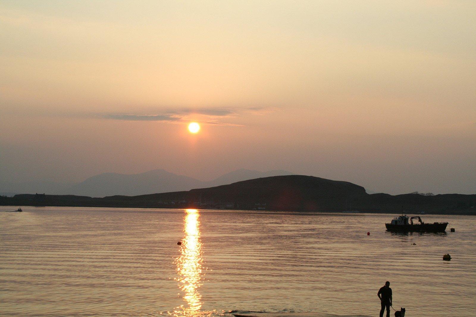 Sunset over Oban