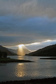 Sun rays over Loch Leven 2