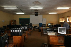 Inside St Mary's computer lab