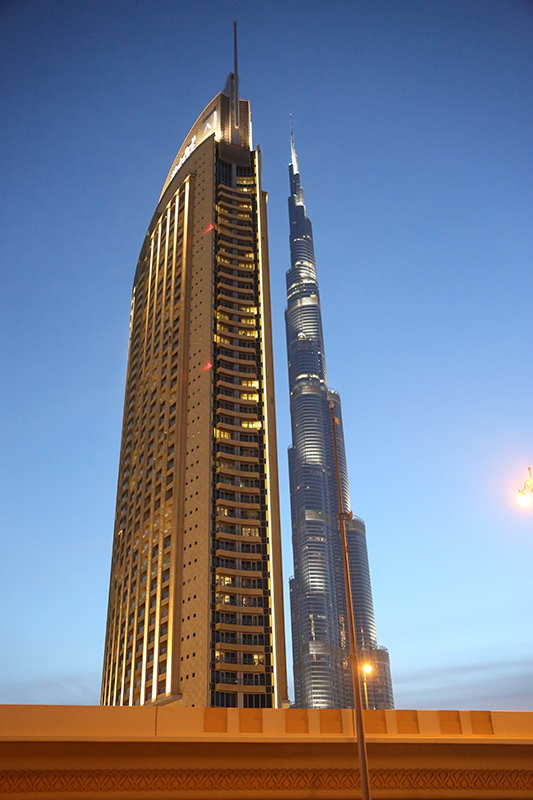 Burj Khalifi at night