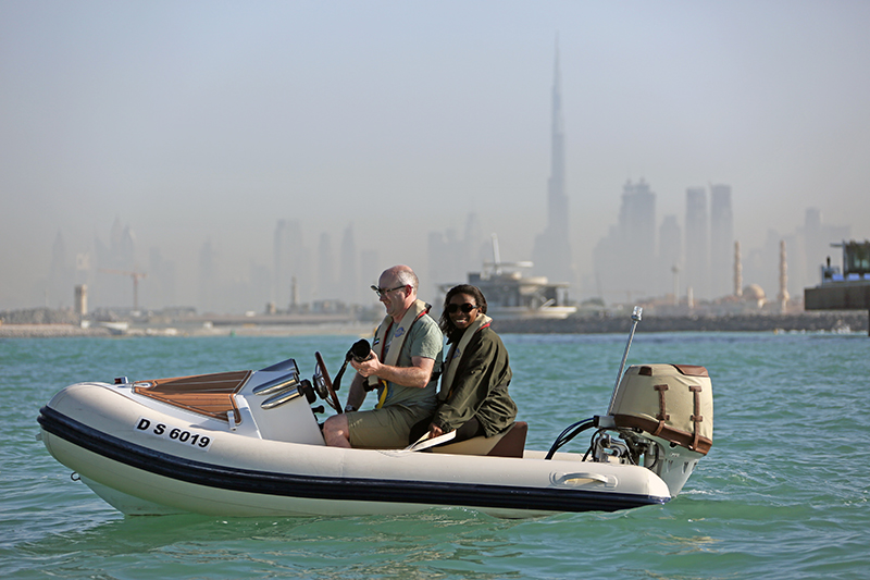 Geoff & Hazel with Dubai Skyline